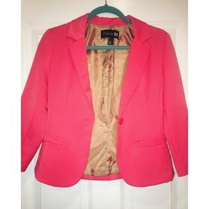 Hot Pink Fitted Blazer